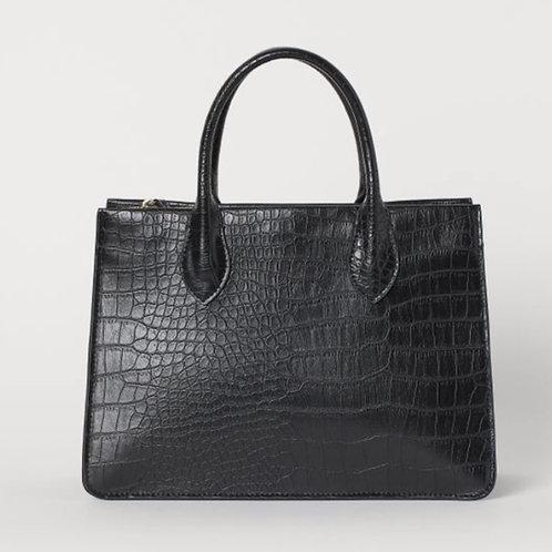 Crocodile Print Small Handbag