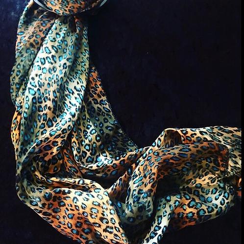 Green Reptile Print Fashion Scarf