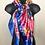 Thumbnail: Blue Floral Fashion Scarf (Large)