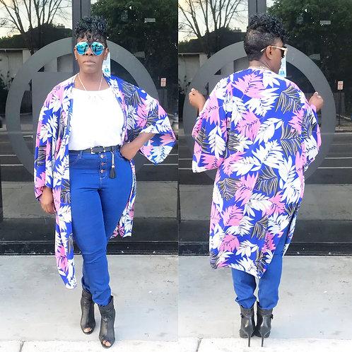 Flamingo Blue Kimono