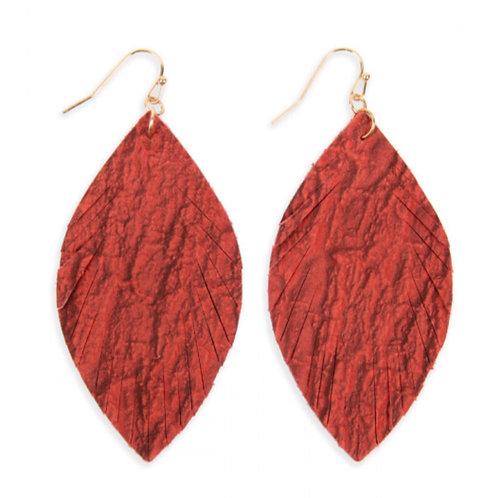 Crinkled Leaf Earrings