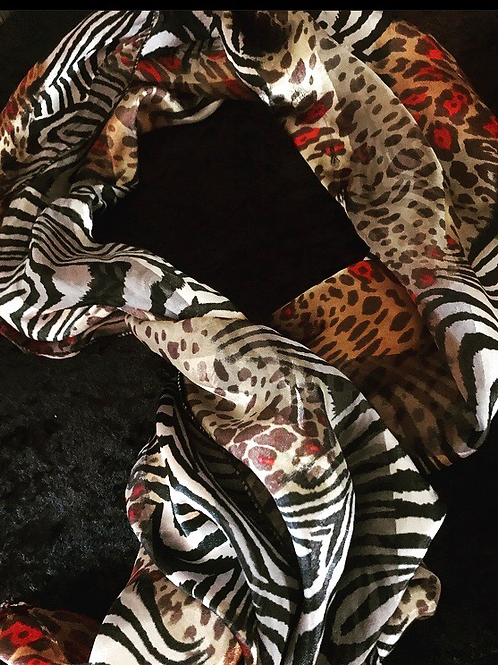 Reptile Print Fashion Scarf
