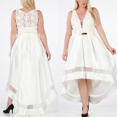 Pearls & Lace Hi Low Dress
