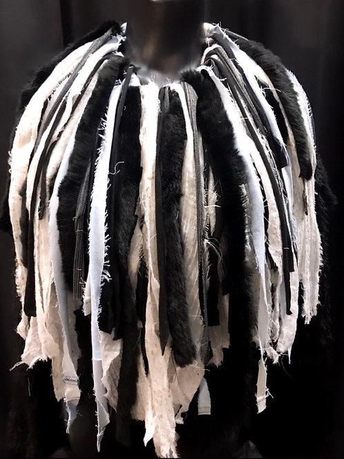Faux Fur Frayed Fringe Necklace