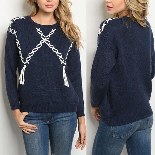 Braids & Tassel Sweater