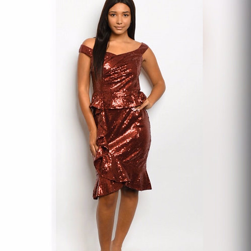 Let's Have Fun Sequin Dress