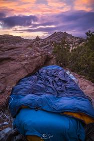 Cowboy camped in Vasquez Rocks