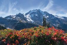 Fall colors below Glacier Peak