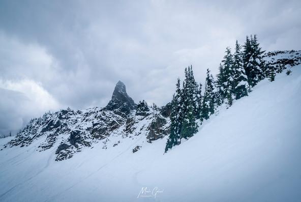 Fresh Snow on Goat Rocks Wilderness