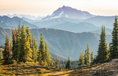 Pacific Crest Trail, 9-3 (m1,104) N. Sunrise over the N. Cascades, 11 Miles from Canadian Border