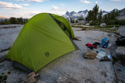 Camped below Donahue Pass
