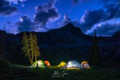 Camped on Half Moon Lake