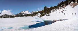 Around a frozen Bullfrog Lake