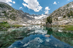 Pacific Crest Trail, Snowmelt lake, N. of Donahue Pass