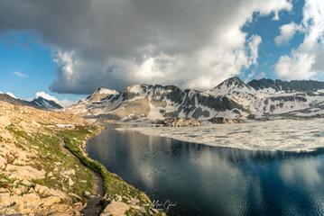 8-8 (m837) Reflections, Helen Lake, N. of Muir Pass