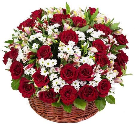 סלסלת ורדים מפנקת