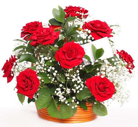 עיצוב ורדים בסלסלה