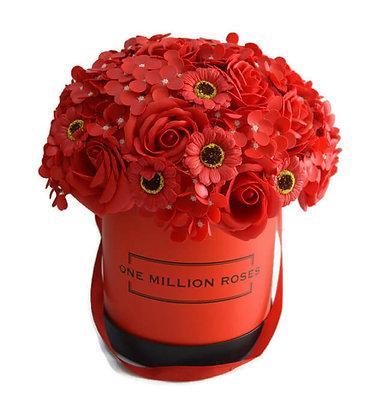 פרחי סבון אדומים