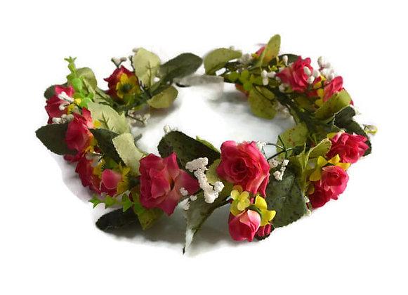 זר פרחים לראש שושנים