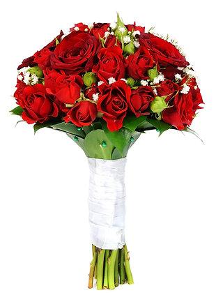 זר כלה ורדים אדום קלאסי
