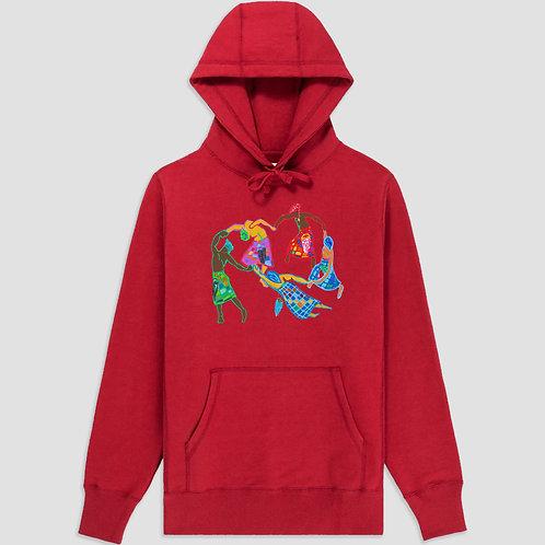 Afro-Scot Dance Hooded Sweatshirt Red