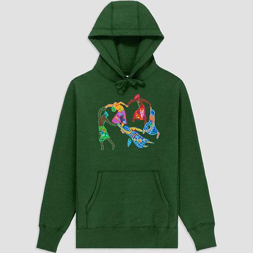 Afro-Scot Dance Hooded Sweatshirt Green