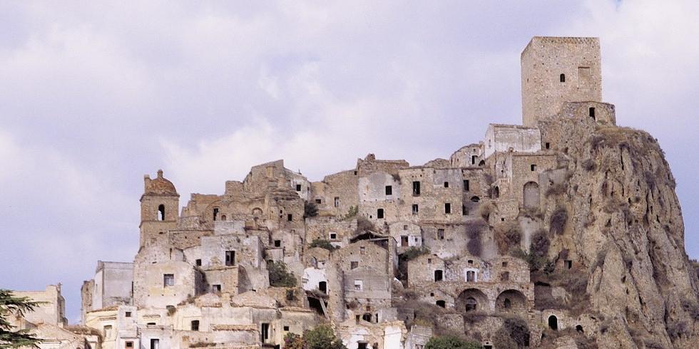 old village on hills