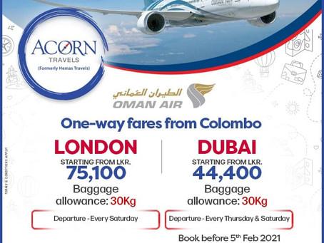 Oman Air Special Rates