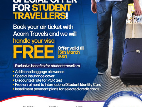 THE OFFER IS BACK for all Student Travellers!
