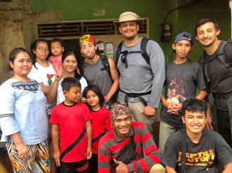 With some of the local villagers in West Java.  Photo ©Jungle Diaries