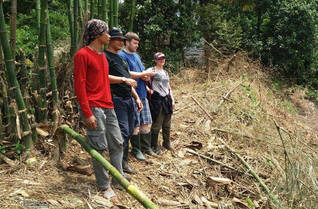Colette and Niall from the UK exploring the riparian habitats with our guides