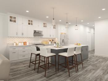 Custom Kitchen with Quartz Counters