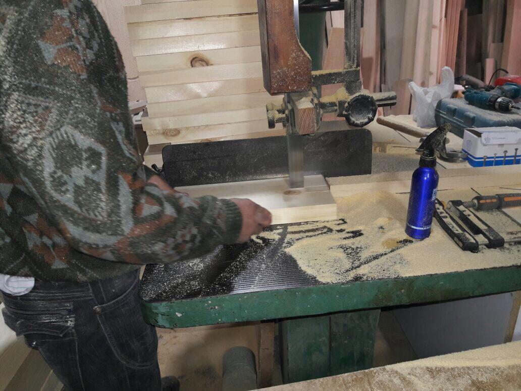 Carpentry work on site
