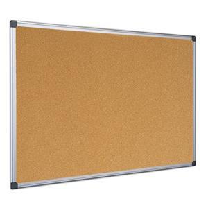 Value Bi-Office Cork Board Aluminium Frame 1200x900mm