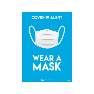 Value Twin Pack Avery COVID-19 Wear a Mask A4 Sticker 297x210
