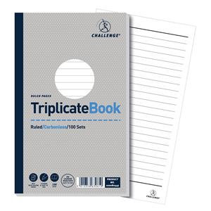 "Value Triplicate Pads 210mmx130mm (8""x5"")Memo Book Pack of 5"