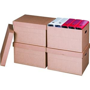Value Archive/Storage Box and Lid 405 x 337 x 285 mm Brown (Pack of 10)