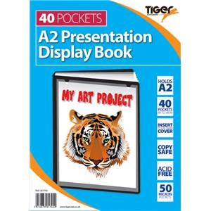 Value Tiger Presentation (A2) Display Book 40 Pockets (Black)