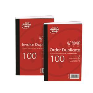 """Value Pukka Pads 210mmx130mm (8""""x5"""")Pre-Printed Order Duplicate Book Pack of 5"""