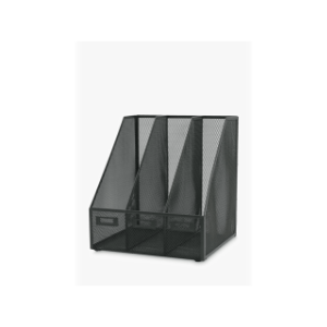 Value Triple Wire Mesh Magazine Rack Graphite