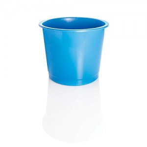 Value Plastic Waste Bin Blue