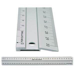 Value Linex (30cm) Aluminium Cutting Ruler with Anti-slip Strip