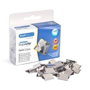 Value Rapesco Supaclip 60 Refill Clips for 60 Sheets of 80gsm Stainless Steel Pa
