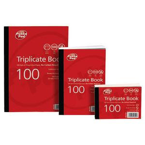 "Value Pukka Pads 102mmx130mm (4""x5"") Triplicate Book Plain Ruled Pack of 5"