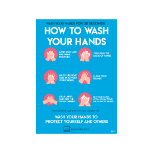 Twin Pack Avery COVID-19 How to Wash Your Hands Circular Sticker 297mm x 210mm