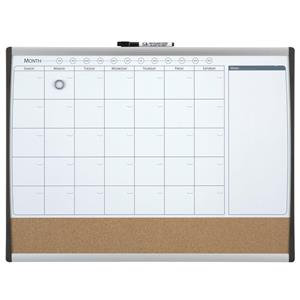 Value Nobo 585 x 430mm Combo (Dry Erase/Cork) Organisation Board with Black and