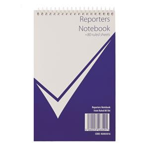 Value Reporters Shorthand Spiral Notebook 160 Sheets Feint Ruled (White)