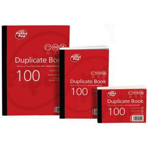 """Value Pukka Pads 105x130mm (4""""x5"""") Duplicate Book Plain Ruled (White) Pack of 5"""