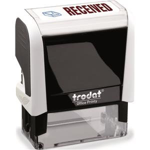 Value Trodat Printy 4912 (46mm x 18mm) Self-Inking Word Stamp (Red/Blue) 'Receiv