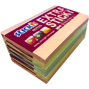 "Value Stick'N Extra Sticky 76mm x 127mm (3"" x 5"") Pastel Assorted (Pack of 6)"